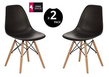 crisnails sillas eames modernas patas de maderas plstico para comedor salon y - Sillas De Salon Modernas