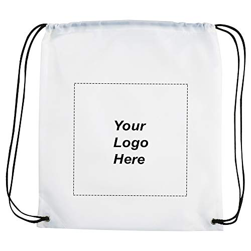 The Oriole Drawstring Backpack by Promo Direct   250 QTY   2.58 Each   Customization Product Imprinted & Personalized Bulk with Your Custom - Notepad Imprinted White