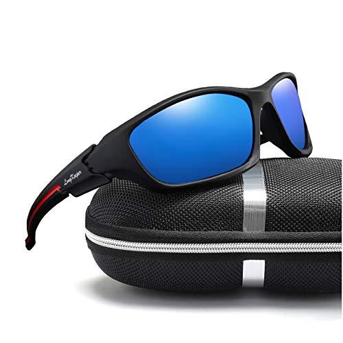 - Polarized Sport Sunglasses Women Men Cycling Running Driving Baseball Glasses Long Keeper (Blue)