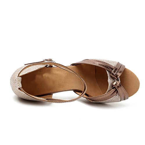 Evening Girls Wedding Champagne Ballroom Heel Fashoin Sandals Dancing Latin Womens Social Shoes Glitter Minishion 6cm pq1Hzdvw1