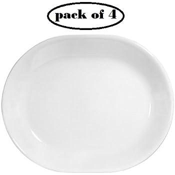 Corelle Livingware 12-1/4-inch Serving Platter, Winter Frost White (4)