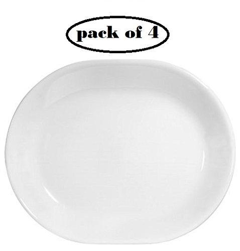Corelle Livingware 12-1/4-inch Serving Platter, Winter Frost White (4) (Corelle Microwave Safe Platter)