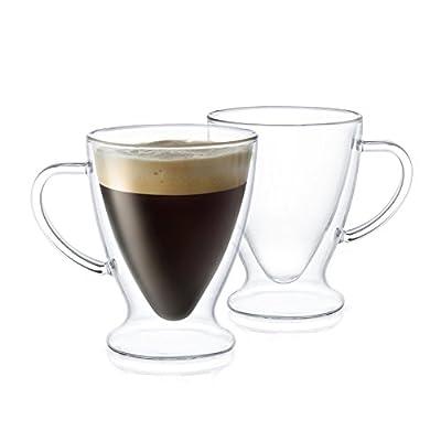 JoyJolt Declan Irish Glass Coffee Cups
