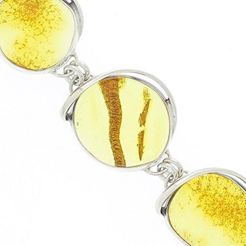 Bijoux Irina - Bracelet Cercles en Argent & Ambre Citron