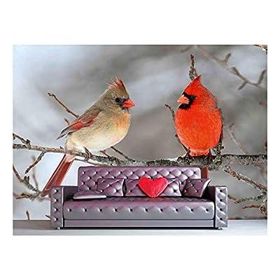 Majestic Craft, Classic Design, Pair of Northern Cardinal (Cardinalis Cardinalis) in a Tree