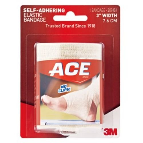 Image of 3M Health Care 207461 ACE Self Adhesive Athletic Bandage, 3' W (Pack of 72) Adhesive Bandages