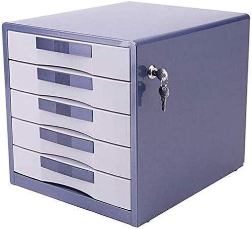 オフィス家具引き出し、5つのレイヤーデスクトップデータストレージの引き出しに固定可能なファイルキャビネット