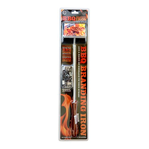 IGGI BBQ Burger Steak Branding Utensil Iron Changeable Letters Barbeque Country and Western