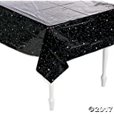 """Outer Space Party Stars Plastic Tablecloth - 54"""" x 108"""""""