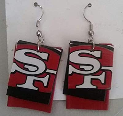 San Francisco 49ers NFL Football Duct Tape Earrings