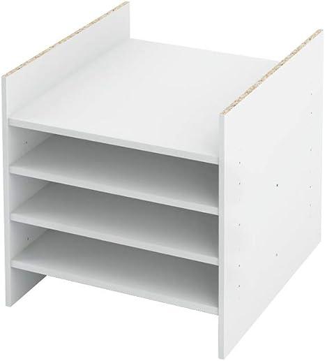 INWONA Ikea Kallax - Estantería con compartimento intermedio (1-4 estantes, 2-5 compartimentos con 4 estantes)