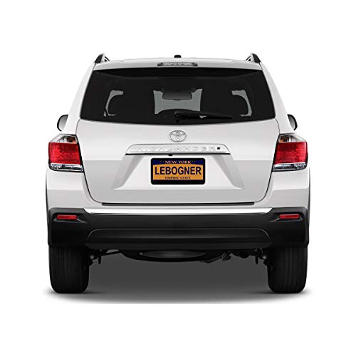 2 Pack Matte Aluminum Auto Plate Frames 2 Hole Stainless Steel Black Unbreakable Frames to Protect Plates Will Fit Standard US Plates lebogner Car License Plate Frames Mounting Hardware Included