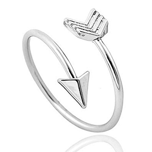 Silver Arrow Ring, Inspirational Ring, Promise Ring, Graduation Ring, Friendship Ring, Travel Ring, Toe Ring - Adjustable (Arrow Wrap Ring)