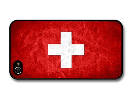 Swiss Flag Switzerland Schweiz Flagga coque pour iPhone 4 4S