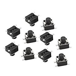uxcell 10Pcs 4.5x4.5x5mm Panel PCB Momentary Tactile Tact Push Button Switch 4 Pin DIP