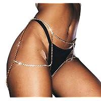 Hwiionne Body Chain Sexy Body Chain Plata 1 *