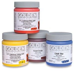 Golden Artist Colors Matte Titan Buff 4 oz jar 119 ml jar Paint