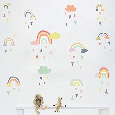 Rainbow Wall Sticker Sleepy Eyes Vinyl Babies Room Fashion Girls Bedroom Wall Decor,Black …