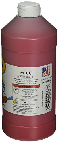 Crayola Artista II Washable Tempera Paint, Red, 32-Ounce