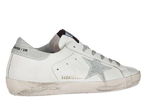 GOLDEN GOOSE Zapatos Zapatillas de Deporte Mujer EN Piel Nuevo Superstar Blanco