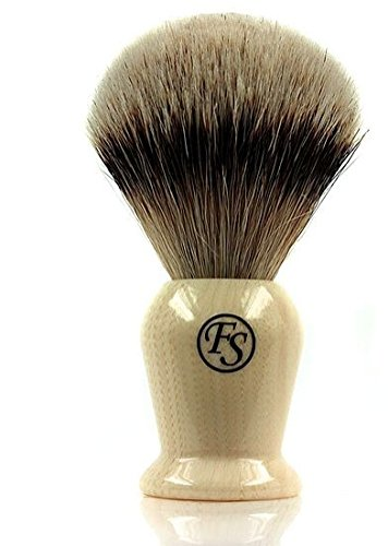 Silvertip Badger Brush 21 Mm Knot Faux Ivory Handle -- Comes with Free Stand ()