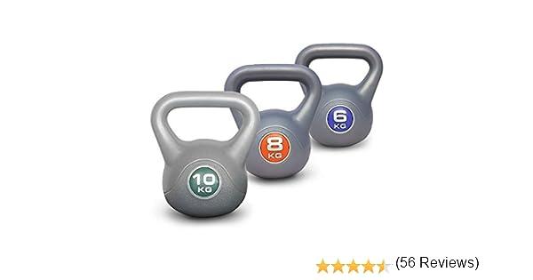 Juego de pesas rusas de vinilo Kettlebell de UK Fitness, incluye DVD para entrenamiento: Amazon.es: Deportes y aire libre