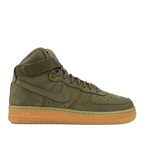 Nike Kids Air Force 1 High WB Grade School-Medium Olive-5.5 by NIKE
