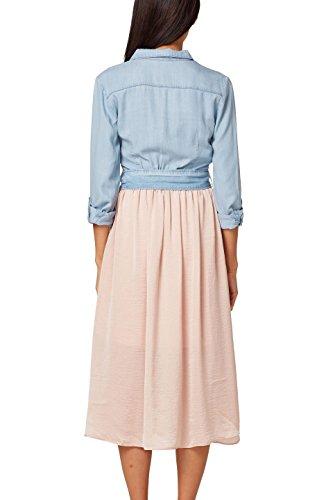 Damen Weiß 110 ESPRIT White Kleid Off by edc xqEp0IS