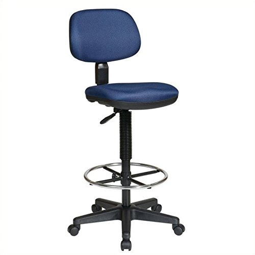 Office Star DC Sculptured Seat and Back Drafting Chair - Navy by Office Star