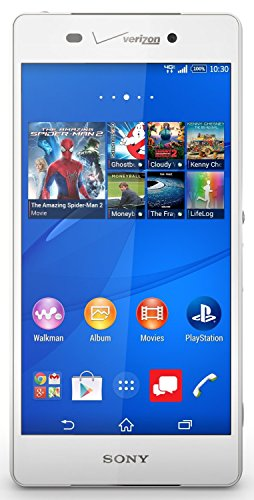 Sony Xperia Z3v D6708 32GB Unlocked GSM 4G LTE IP68 20MP Camera Smartphone, White
