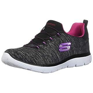 Skechers Women's Summits-Quick Getaway Sneaker, BKPK, 5.5 M US