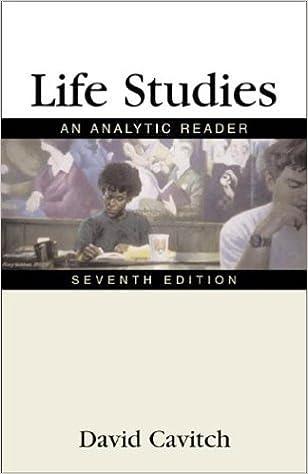 Book Life Studies by David Cavitch (2001-01-23)