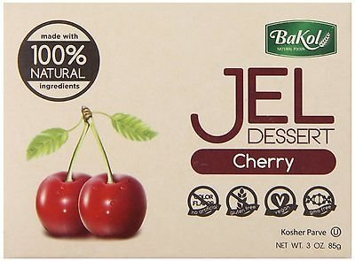 Bakol Jel Dessert 3 oz. Vegan & all Natural - Pack of 3 (Cherry)