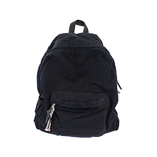 Canvas School College Backpacks for Women and Men Denim Jeans Casual  Outdoor Travel Bag Black 2a253d45d3