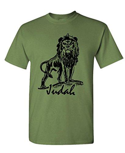 Live Nice LION OF JUDAH - christian jesus christ god Tee Shirt T-Shirt, 3XL, Army ()