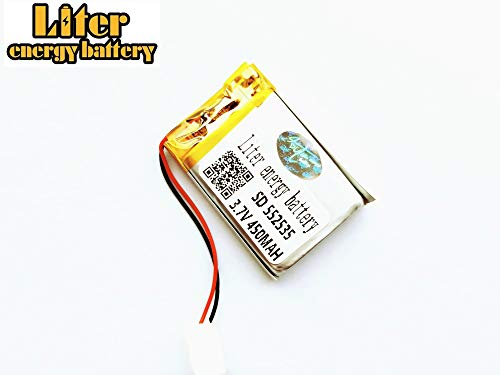 3.7V 450mah 552535 Polymer Lithium Li-Po Rechargeable Battery for GPS PSP DVD PAD Tablet pc ()