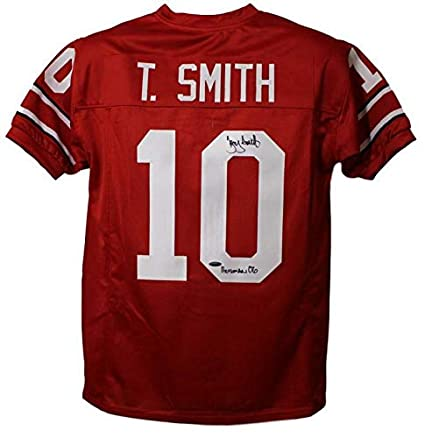 competitive price ab6fd 756e5 Troy Smith Autographed Ohio State Buckeyes Red XL Jersey HT ...