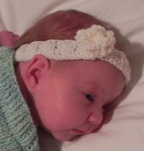 Fleur d'Ange Baby and Toddler Headband Knitting Pattern