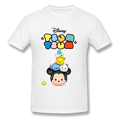 Disney TSUM TSUM T Shirt For Men 100% Organic Cotton[ White