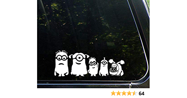 "Minion OOOOO/'  SIZE 4/""1//4 x 8/""3//4  Vinyl Sticker Car Home Bike Laptop"