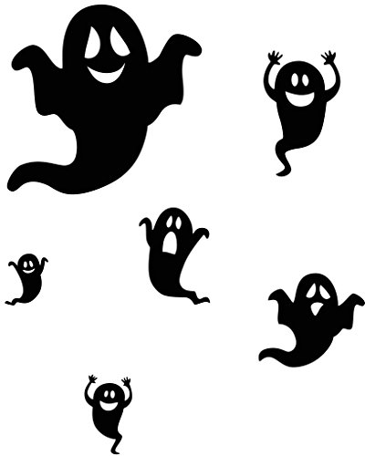 - Aiwall 9434 Happy Halloween Removable Home Decor Wall Stickers Vinyl Decal Mural Art Design for House Decoration ( Happy Ghosts, Screaming Monsters )