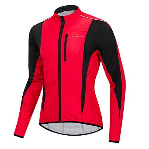 Cycearth Winter Warm UP Thermal Softshell Cycling Jacket Windproof Waterproof (Best Softshell Cycling Jacket)