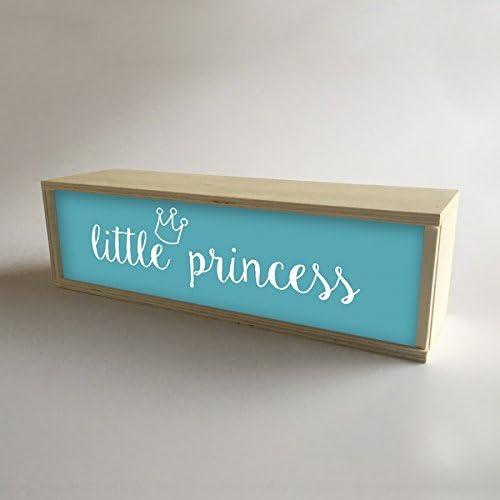 Caja con luz interior, decoración infantil para niña Turquesa con ...