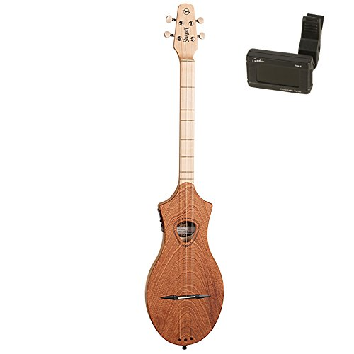 Seagull 042517 M4 Merlin Mahogany EQ Acoustic-Electric Dulcimer with Godin Tuner by Seagull