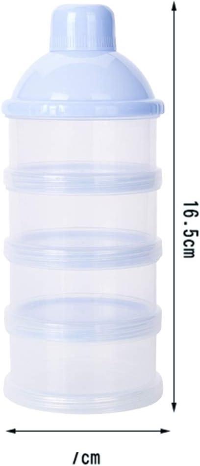 Bleu Xiton Lait en Poudre pour b/éb/é Distributeur Alimentation pour b/éb/é Stockage Voyage Container 4 Couches Antipollution superposable Snack Conteneur de Stockage