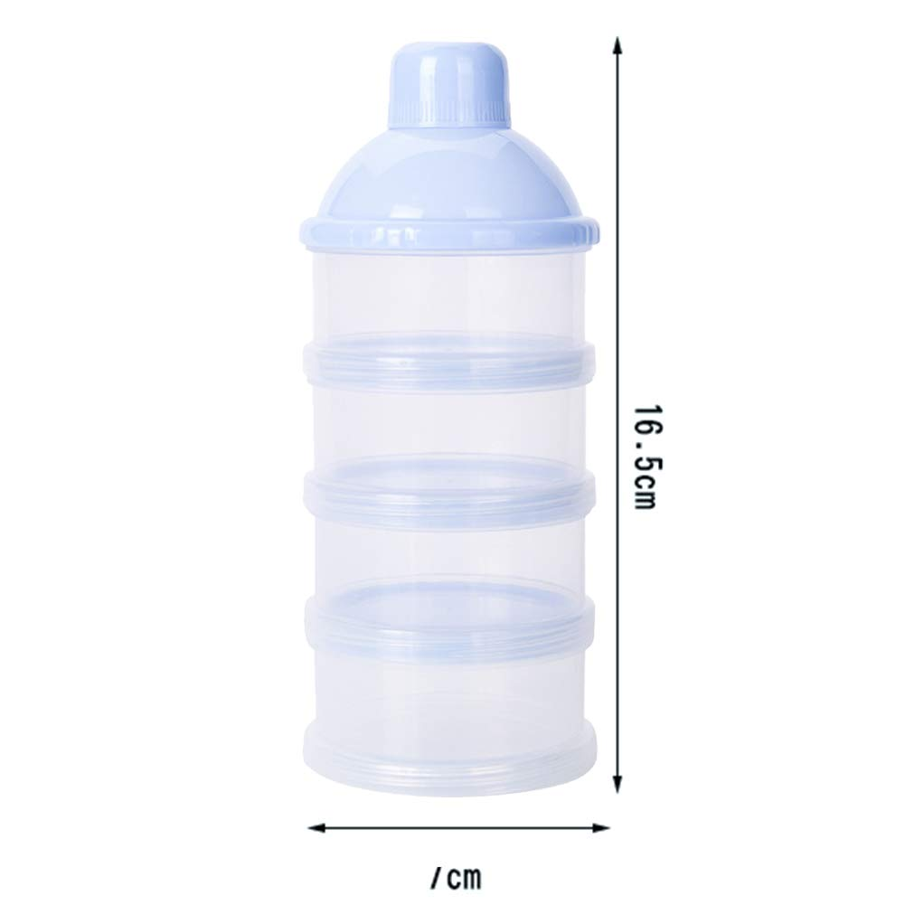 Yililay Baby milk powder dispenser Feeding travel storage container 5 layers Non-Spill Snack stackable storage container BPA Free blue mother and baby products per day