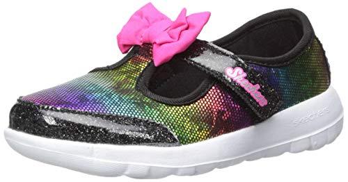Skechers Kids Girls' GO Walk Joy-Bitty Glam Sneaker, Black, 11 Medium US Little Kid