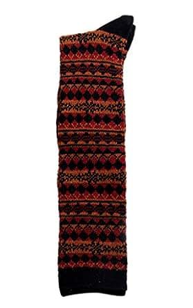 Bigood Women Winter Warm Rhombus Lattice Knit Cotton Thigh Socks #H