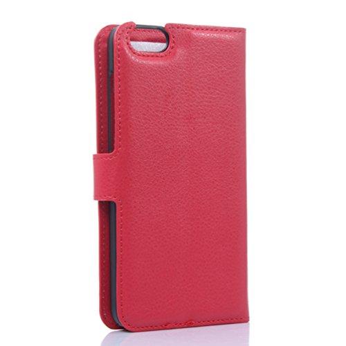 Manyip Funda Huawei Honor 4X,Caja del teléfono del cuero,Protector de Pantalla de Slim Case Estilo Billetera con Ranuras para Tarjetas, Soporte Plegable, Cierre Magnético(JFC6-16) H