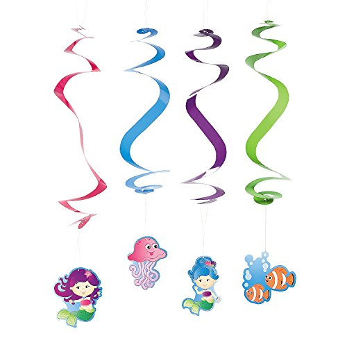 Mermaid Party Dangling Swirls - Party Decorations &